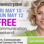 Chemistry.com Free Communication Weekend Friday May 12th – Sunday May 14th 2013