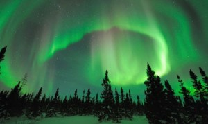 A view of the Northern lights in Finland!