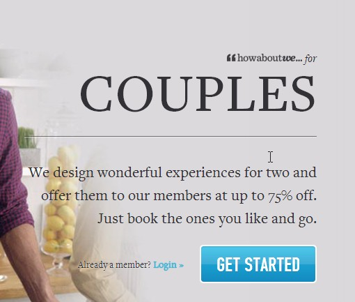 A couples option? Yeah, we aren't sure either. Perhaps an attempt to compete with stir events?