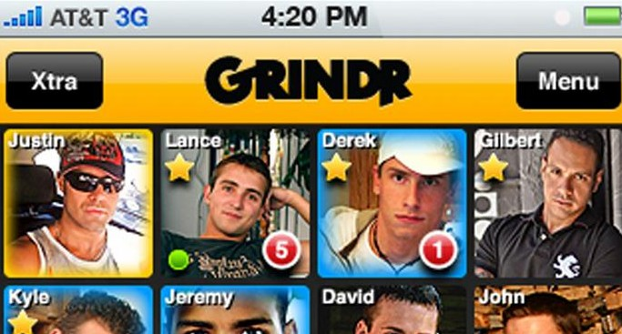 in gay dating app grindr