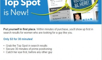 Match.com Introduces New Top Spot Feature!