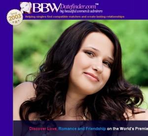 bbwdatefinder homepage appearance.