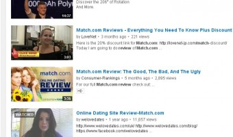 WeLoveDates.com hijacks brands via YouTube review videos for traffic.