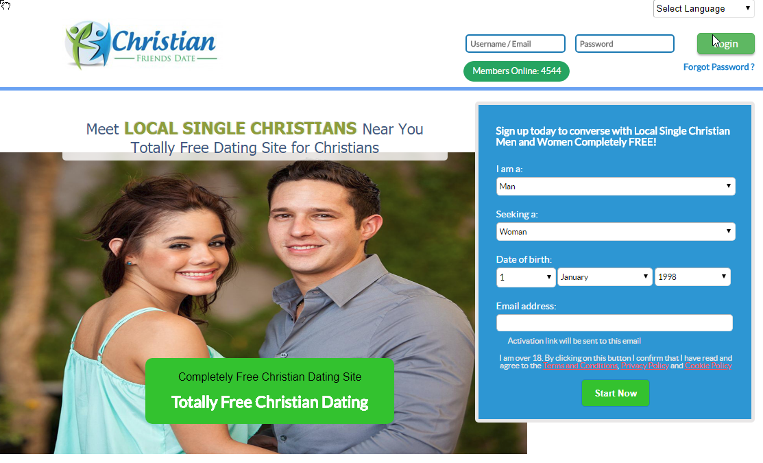 Christian online dating site